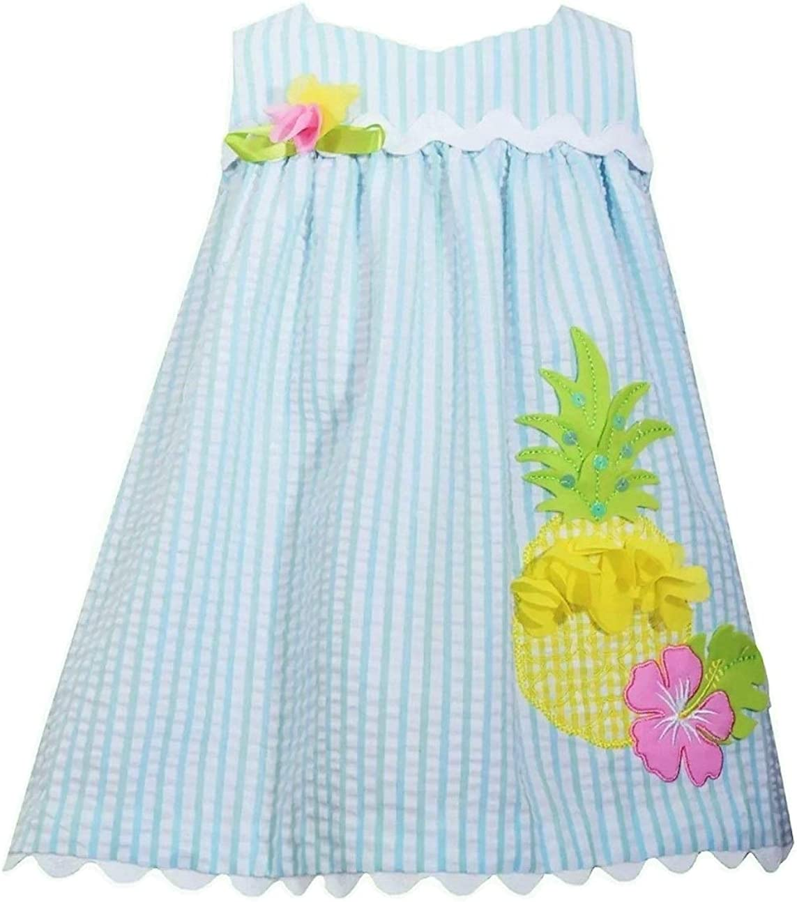 Bonnie Jean Girls' Seersucker Pineapple Sundress 4-6X