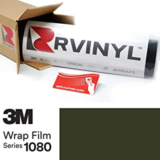 3M 1080 M26 Matte Military Green 5ft x 1ft W/Application Card Vinyl Vehicle Car Wrap Film Sheet Roll