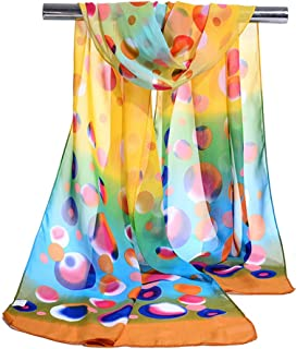 CS&BEAUTY Premium Soft Georgette Sheer Voile Shawl 16050CM Womens Neck Scarf
