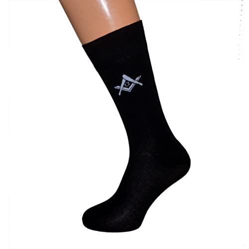 Pair of Masonic Design with G Freemasons Socks