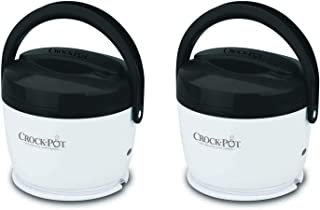 2) Crock-Pot SCCPLC200-G-NP Portable Lunch Crock Slow Cooker Food Warmers 20 oz.