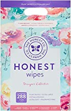 The Honest Company Designer Baby Wipes | Rose Blossom | Over 99 Percent Water | Pure & Gentle | Plant-Based | Fragrance Free | Extra Thick & Durable Wet Wipes | 288 Count