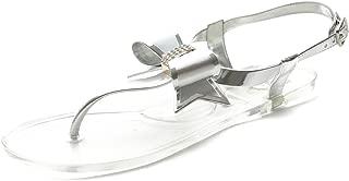 Women's Shoe Ribbon Thong Ankle Strap Flip Flop Jelly Sandal