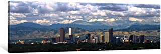 iCanvasART 1 Piece Clouds Over Skyline and Mountains, Denver, Colorado, USA Canvas Print by Panoramic Images, 12 x 36 x 0.75-Inch