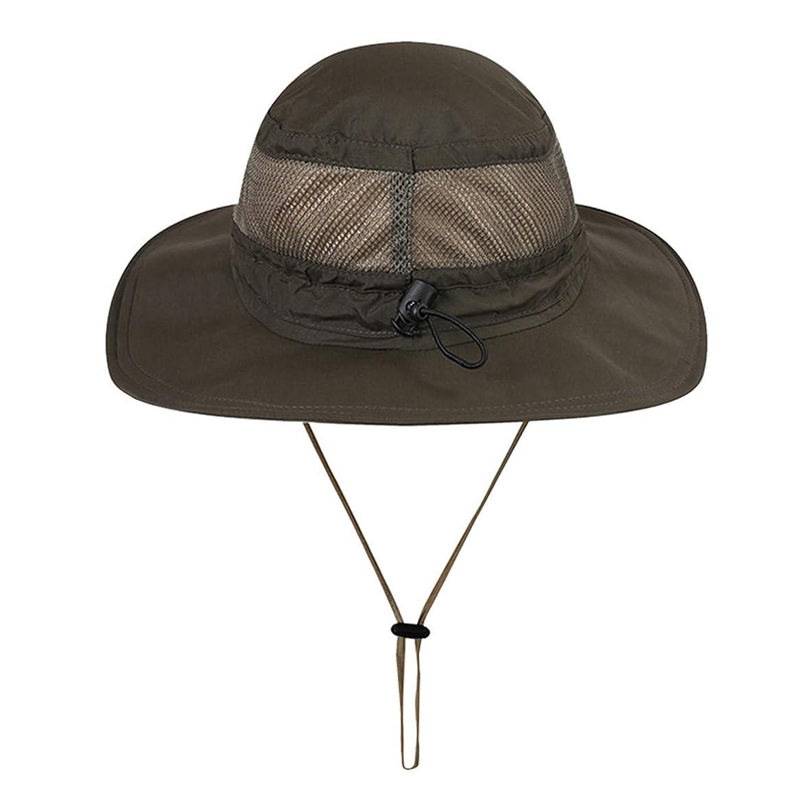 サワータップ無駄Gisdanchz 日焼け防止つば広バケットハット ハイキング 釣り キャンプなどに