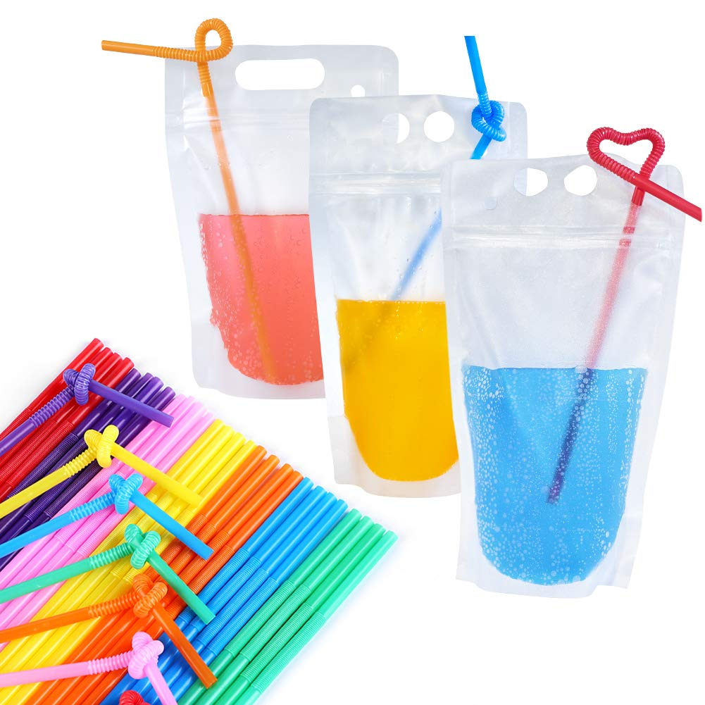 fast FREE shipping party favors reusable Adult beverage drink pouches