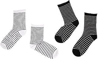 WZDSNDQDY Calcetines de Tubo para Hombre, Calcetines Deportivos de Calle Personalizados, Raya de Material de algodón 2 Pares