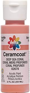 Delta Creative Ceramcoat Acrylic Paint in Assorted Colors (2 oz), 2678, Deep Sea Coral