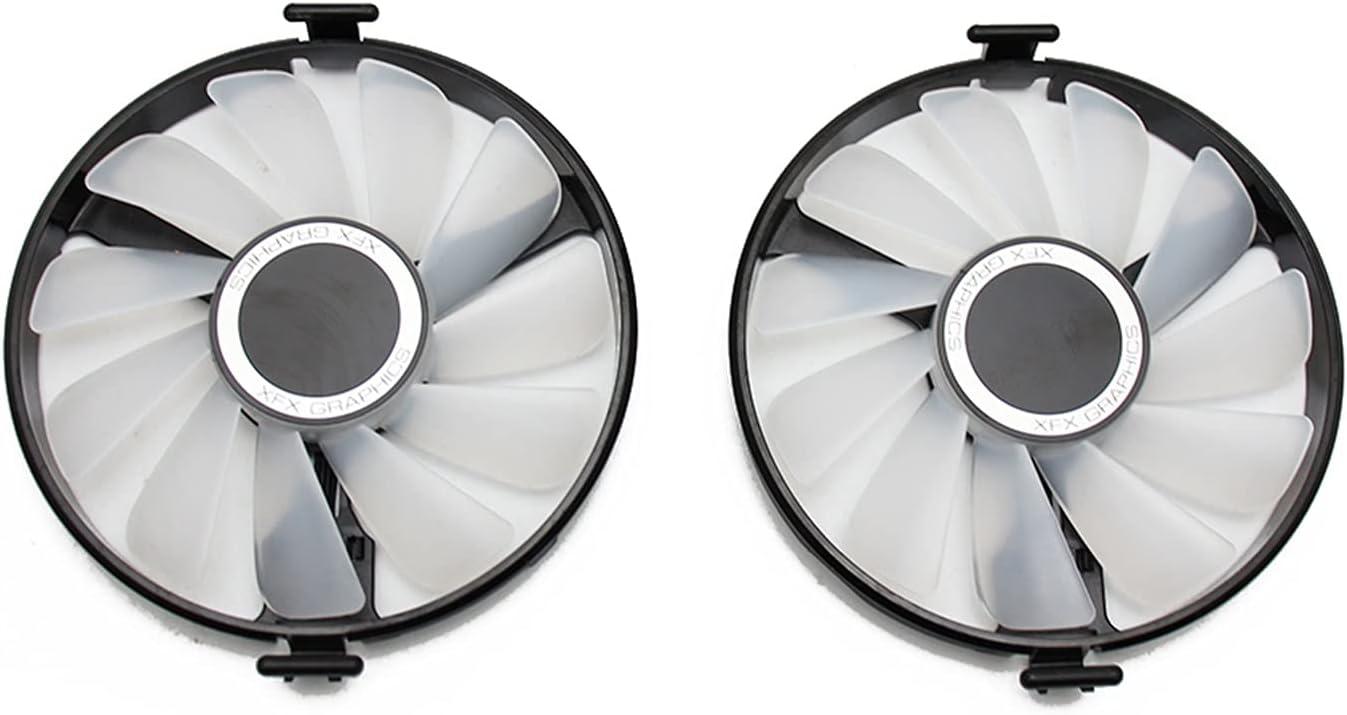 FDC10U12S9-C Reemplazo de Ventilador de refrigerador para XFX AMD Radeon RX 470 480 580 RX580 RX480 RX470 Edición EDICIÓN Crimson Graphics Card Fan de enfriamiento (Blade Color : Red Light 2PCS)