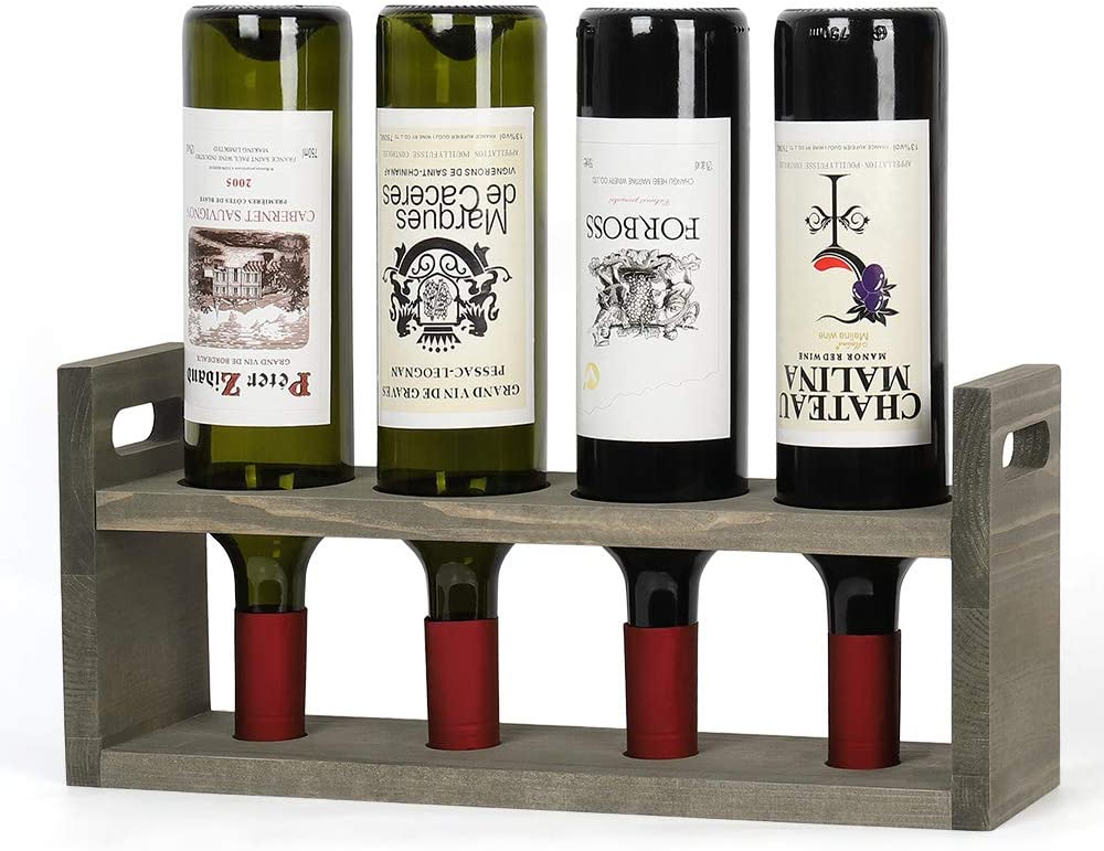 MOOACE Wooden Tabletop Wine Rack Genuine for Award B Countertop 4 Cabinet Bar