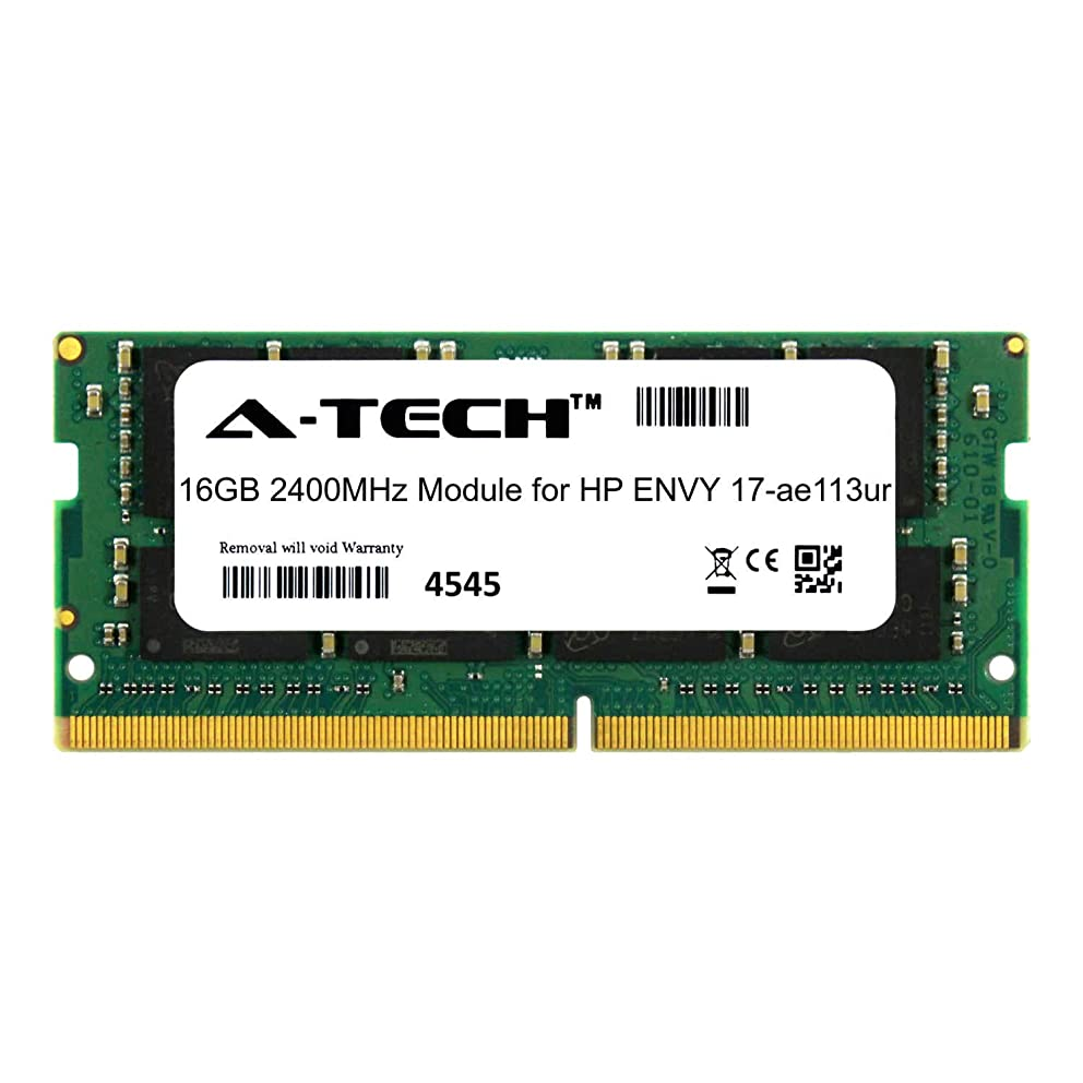 A-Tech 16GB Module for HP Envy 17-ae113ur Laptop & Notebook Compatible DDR4 2400Mhz Memory Ram (ATMS273954A25831X1)