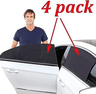 Kribin 4 Pack Car Window Shade, Car Sun Shade for Baby - Car Side Rear Sun Shade with UV Rays Protection - 2 Pack for Fron...