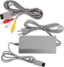 AreMe Wii Replacement Cables Set, Wii AC Power Adapter Block and AV Cable for Nintendo Wii