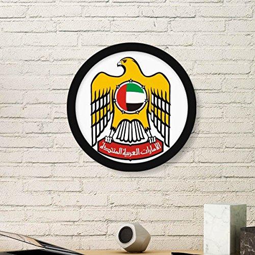 DIYthinker Verenigde Arabische Emiraten Nationaal Embleem Ronde fotolijst Art Prints Van Schilderijen Thuis Muursticker Gift