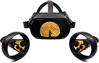 MightySkins Carbon Fiber Skin for Oculus Quest - Samurai | Protective, Durable Textured Carbon Fiber Finish | Easy to Appl...
