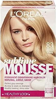 L'Oreal Paris Sublime Mousse by Healthy Look Hair Color 83 Golden Medium Blonde (1-Pack)