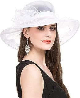 white organza hat
