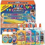 Elmer's kit para hacer slime de fiesta, incluido surtido de soluciones activadoras de líquido mágico de slime y surtido de pegamentos líquidos, 8unidades