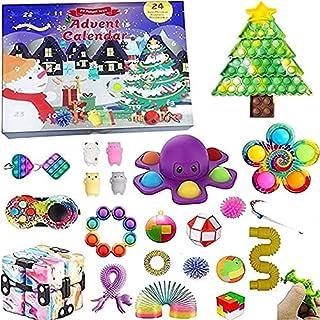 Ganghuo Fidget Toy Calendrier de l'Avent 2021 Calendrier de l'Avent 24 jours avec jouets sensoriels pour enfants et adultes