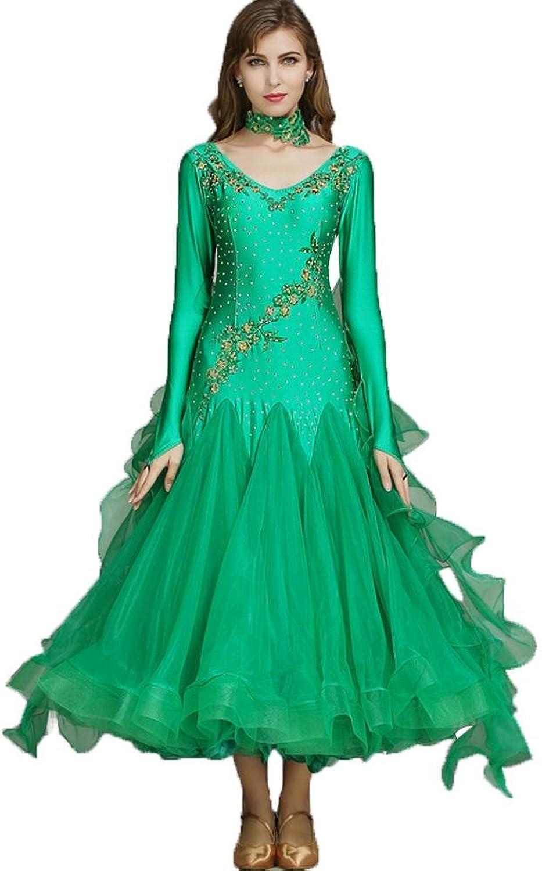 Modernes Tanz Outfit Für Frauen Lange Ärmel Ärmel Ärmel Walzer Kleider Wettbewerb Kleidung B07BHP4G99  Bekannt für seine hervorragende Qualität 5981eb