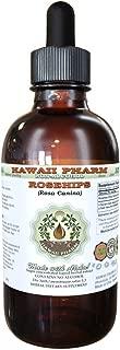 Rose Alcohol-FREE Liquid Extract, Organic Rosehips (Rosa Canina) Glycerite 2 oz
