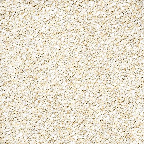 1 kg Perlkies, farbige Dekosteine, Körnung 1,2 - 1,8 mm (creme)