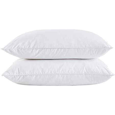 Amazon Com Puredown Feather And Down Pillow Standard Size Set Of 2 Duck Down Home Kitchen