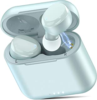 TOZO T6 Auriculares Bluetooth 5.0 Auriculares Inalámbricos Control Táctil con Estuche de Carga y micrófono Integrado, Soni...