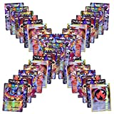 Flyglobal Jeux De Cartes 100 Pcs Style Cartes EX et GX Full Art 59 Cartes EX 20...