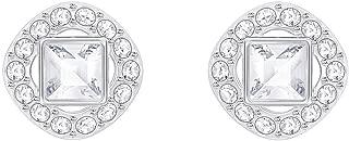 Swarovski Crystal White Angelic Square Rhodium-Plated Earrings