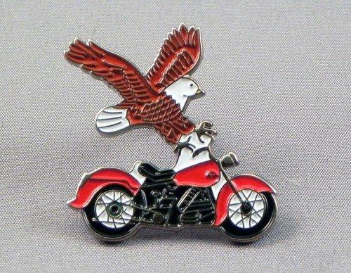 Metal Enamel Pin Badge Brooch Custom Biker Riding Chopper & Eagle