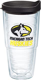 Tervis Michigan Tech Huskies Primary Logo Tumbler with Emblem and Black Lid 24oz, Clear
