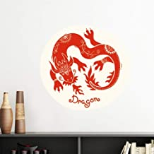 DIYthinker Year of Dragon Animal China Zodiac Red Vinyl Wall Sticker Wallpaper Room Decal