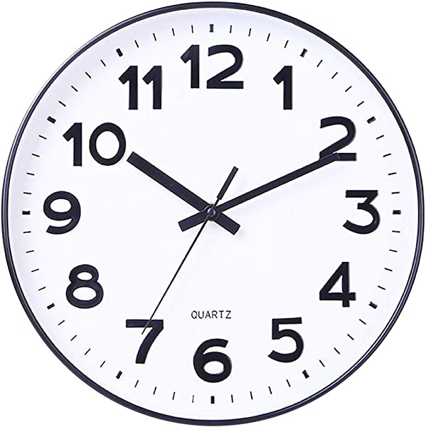 Foraineam 12 Inch Wall Clock Silent Non Ticking Battery Operated Decorative Quartz Clock For Home Office School