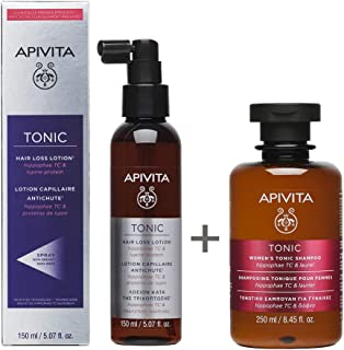 Apivita Pack Tonic Hair Loss Lotion (Loción para la caída del cabello) + Champú Tonic Women (Champú tonificante mujer) de ...