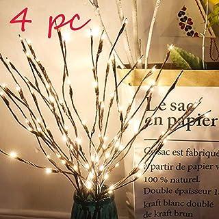 Ramas luminosas LED, Decoración para Fiestas y Navidad Luces de Cuento de Hadas Ramas de Sauce Lámpara Blanca Cálida Luces Decorativas Interiores Luces de Hadas para Fiestas Decoración (4 Ramas)