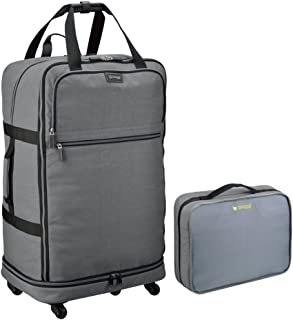 Biaggi Zipsak Micro-Fold Spinner Suitcase - 27-Inch Luggage - As Seen on Shark Tank - Gray