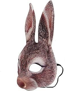 Respctful✿‿ Animal Mask-Bunny Costume Mouth Mover Halloween/Cosplay Latex mask
