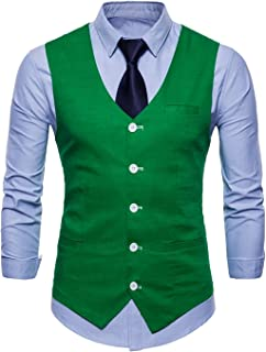 Men's Blazer Vests Leisure Tuxedo Slim Waistcoat Fit Modern Casual Wedding Suit Vest Party Blazer Men's Suit Men