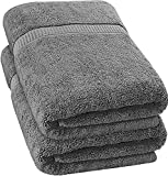 Utopia Towels - Luxurious Jumbo Bath Sheet (35 x 70 Inches, Grey) - 600 GSM 100% Ring Spun Cotton Highly Absorbent and Quick Dry Extra Large Bath Sheet - Super Soft Hotel Quality Towel (2-Pack)