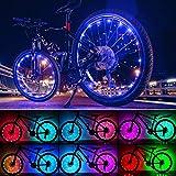 Exwell Bike Wheels Lights,Bike Tire Lights,Bike Light for Wheels Valentines Day Gifts For Him,Safety at Night,Led Lights Waterproof Bike Spoke Lights,AA Battery (2 Wheels)