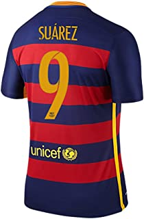 Suarez #9 Camiseta 1ra FC Barcelona 2015/2016 -nuestro tamaño