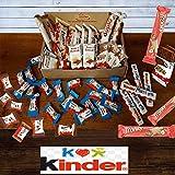 Mistery Box Kinder Ferrero 45 Snack Confezione Assortita Barrette Cioccolato Idee Regalo Compleanni ( Scatola Media ) 880 gr