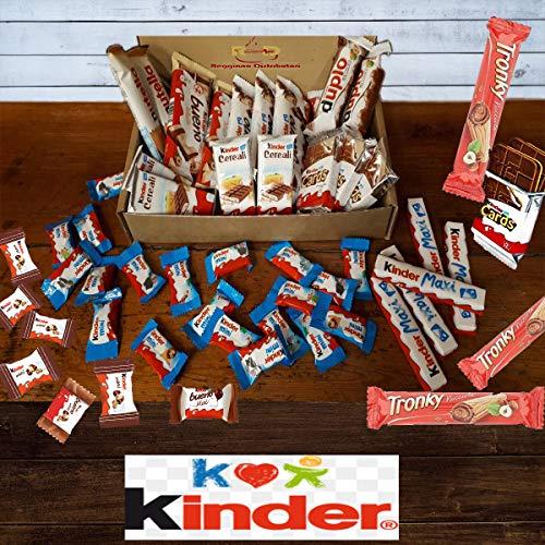 Mistery Box Kinder Ferrero 45 Snack Confezione Assortita Barrette Cioccolato Idee Regalo Compleanni...