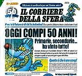 Biglietto Auguri Giornale cm.32x49 40 ANNI Marta Lupo Alberto