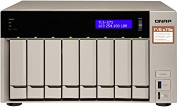 QNAP TVS-873e-4G-US 8-bay NAS/iSCSI IP-SAN, AMD R series Quad-core 2.1GHz, 4GB RAM, 10G-ready