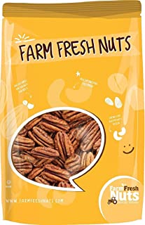 Whole, Shelled & Raw Georgia Pecans by Farm Fresh Nuts | 1 LB Bag of Southern Tastiness | Unsalted & Handpicked for Freshn...