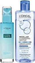 L'Oréal Paris Skincare Kit with Hydra Genius Face Moisturizer and Micellar Cleansing Water for Normal to Dry Skin, 1 kit