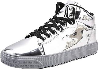 en Cuir Hommes Femmes Bottes Unisexe Mode Automne Cheville Haut Chaussures décontractées à Lacets en Plein air Hip Hop Cou...