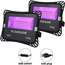UV LED Black Light, FLOODOOR 30W Ultraviolet Flood Lights IP66-Waterproof Prefect for Backlight Party, Fluorescent Poster, Fishing Body Paint,Stage Lighting,Disco Lights[2 Pack]